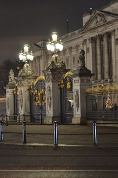 The gates of Buckingham Palace.