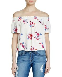 MINKPINK Falling Blooms Off-The-Shoulder Top  | bloomingdales.com