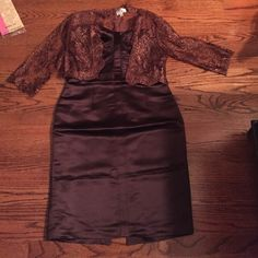 Milly dress Brown milly strapless dress with lace little cardigan Milly of NY Dresses Strapless