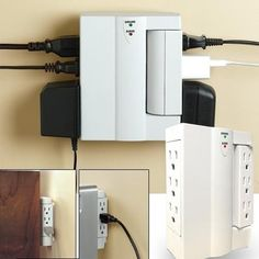 Delightful 6 Outlet Swivel Mount Surge Protector Socket Good Ideas