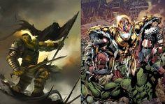 DC Comics Fight Marvel Comics: Worldbreaker Hulk vs. Future Ultron