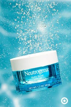 Say hello to new Neutrogena Hydro Boost Water Gel facial moisturizer. It quenches dry, thirsty skin to keep it looking hydrated, smooth and supple without that oily, greasy feel. Plus, water's the #1 ingredient.