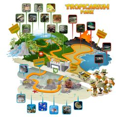 Mappa del Tropicarium Park di Jesolo Lido