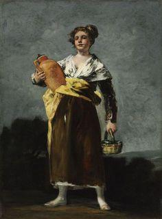 """The Water Carrier (""""La Aguadora"""")  Artist:Francisco de Goya y Lucientes (Fuendetodos [Zaragoza] 1746 – 1828 Bordeaux) Szépművészeti Múzeum - Gyujtemenyi kereső angol - Artwork"""