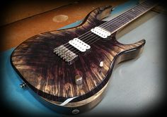 Kiesel Guitars Carvin Guitars K6 (K Series) Custom arctic coloring over flamed maple top, 3 piece body, ash body in antique ash treatment with Kiesel Lithium pick ups and Kiesel Treated Board