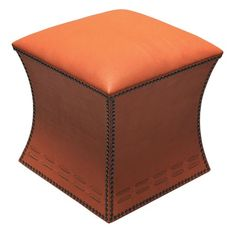 I pinned this Cleo Leather Ottoman in Orange from the Villena Home event at Joss and Main!