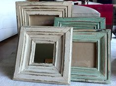 How to use picture frames in interior Design? Chalk Paint Furniture, Hand Painted Furniture, Recycled Furniture, Painting Shiplap, Painting On Wood, Vintage Picture Frames, Vintage Frames, Tutorial Diy, Interior Design Themes