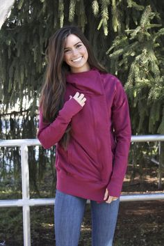 """Hold Me Tight Hoodie -  why we made this  Sweatshirts are our obsession – we believe that we have made """"the perfect sweatshirt."""" It's great for running errands, morning runs, staying comfortable in class, & cozy date nights!"""