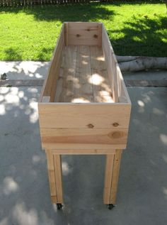 portable garden planter.. Great for herb garden! Move it around the deck… I want a couple of these!