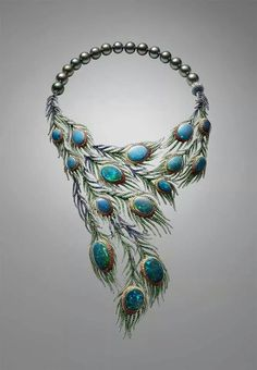 OPAL ASSYMETRY Strutting her feather in 2014 the Alessio Boschi Plumes necklace takes the peacock tail as its inspiration and uses 15 black opals as the centrepieces of cascading and movable feathers. Black Opal Jewelry, Fine Jewelry, Jewelry Making, Gothic Jewelry, Silver Jewellery, Silver Earrings, Vintage Jewelry, Peacock Jewelry, Peacock Necklace