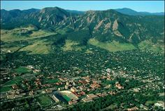 An aerial view of Boulder