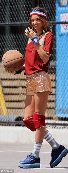 Miranda Kerr for basketball fashion shoot for #Vogue magazine, May 2013. <3 love love love it!