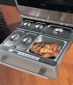 Wolf Warming Drawer appliances from CRIBCANDY - a gallery of hand picked houshold and interior design items from magazines and webogs, every day