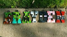 Wood Letter Name Nursery Letters Sets Minecraft