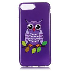 Coque iPhone 7 Plus Hibou Violet