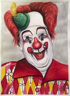 Giclee Print - Watercolor Clown #25 Chuck Burnes