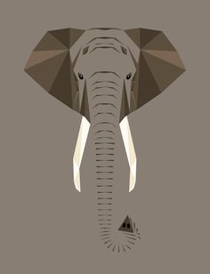 Animal Alphabet - Mat Mabe E for Elephant - Loxodonta africana Be-tusked, flappy-eared, super-intelligent beauty of a beast. Elephant Tattoo Design, Elephant Tattoos, Elephant Face, Elephant Print, Elephant Illustration, Illustration Art, Petit Tattoo, Animal Graphic, Origami