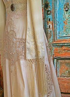EDWARDIAN Vintage CROCHET IRISH Lace Wedding Dress