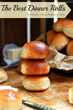 The Best Dinner Rolls From Scratch. Soft, buttery, tender and warm, straight out of the oven. Roxana's Home Baking. Homemade Burger Buns, Homemade Dinner Rolls, Dinner Rolls Recipe, Recipe From Scratch, Home Baking, Baking Recipes, Bread Recipes, Sauce Recipes, Easy Recipes