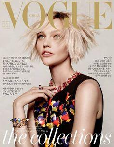 Sasha Pivovarova Covers Vogue Korea December 2014