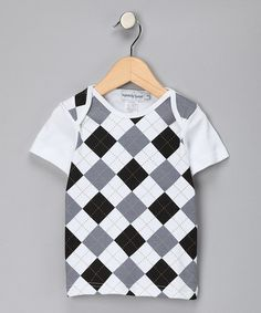 Take a look at this Gray & Black Argyle Tee - Toddler & Kids by Infinitely Sweet on #zulily today!