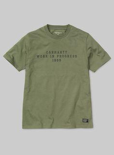 Carhartt WIP S/S Imprint T-Shirt Bog / Black | carhartt-wip.com