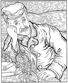 Coloring Page Vincent Van Gogh Kids N Fun Colour Me