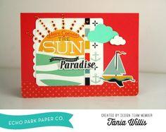 summer adventure card by Tania Willis #echoparkpaper