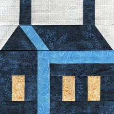 HOUSE BLOCK............PC  ..............Free Schoolhouse Paper Piecing Quilt Block Tutorial and Pattern by Whims and Fancies