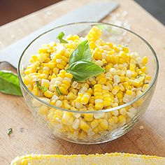 The epitome of simplicity, this sweet summer corn is adorned with nothing but sea salt and basil.