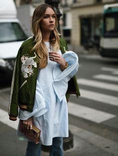 Looks de street style com o verde para você se inspirar e ousar com uma cor fora do comum.