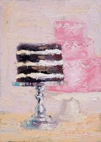 frosting: i will never tire of classic art forms like painting & drawing. Cupcake Kunst, Cupcake Art, Art And Illustration, Painted Cakes, Painting & Drawing, Cake Painting, Cake Drawing, Food Drawing, Wedding Art