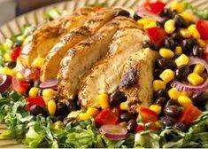 Chicken Recipes-Make a perfect rub for this Chili-Grilled Chicken Sala… – Wudoweard Brock - Detox Recipes Low Calorie Chicken Salad, Grilled Chicken Salad, Chicken Salad Recipes, Healthy Foods To Eat, Healthy Eating, Healthy Recipes, Ww Recipes, Minute Chicken Recipe, Low Fat Diet Plan