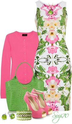 Green And Pink Fashion S Wear Outfits Summer Cute