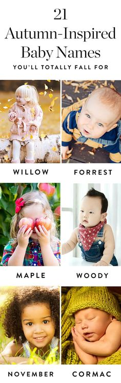 Here are 21 adorable baby names inspired by fall.