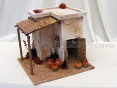 Minareto con bottega vasaio Diorama, Nativity, Tiny House, Gingerbread, Bird, Outdoor Decor, Older Women, Christmas Ideas, Home Decor