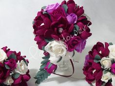 Bridal bouquetpaper flower bouquetwedding by Mazziflowers on Etsy, $65.00