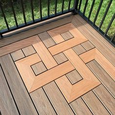 Easy Carpentry Projects - Eternal knot motif might work well for outside balconies Easy Carpentry Projects - Get A Lifetime Of Project Ideas and Inspiration! Deck Design, Floor Design, House Design, Design Desk, Design Homes, Design Art, Tile Design, Woodworking Projects Diy, Woodworking Plans