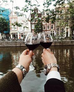 "2,484 Likes, 8 Comments - Blake Scott (@blakescott_) on Instagram: ""Cheers from my fiancée @ashtianah and I!  #BlakeScott #Amsterdam"""
