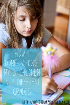 How I Home-School My 3 Children in 3 Different Grades!