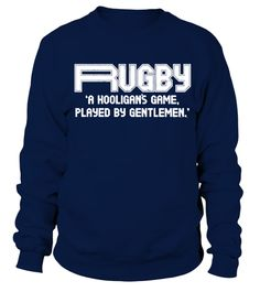 Rugby A Hooligans GentleMEN T-SHIRT Union Quote League Funny birthday gift