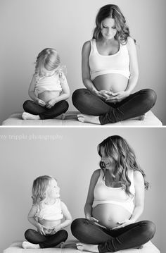 Love this sibling maternity shoot with Amy Tripple Photography! Such a fun maternity studio session...