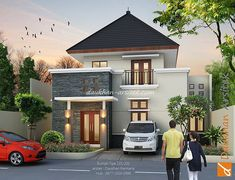 sketsa 3D desain rumah kecil minimalis di Pekalongan. arsitek : Daukhan Permana | DP Arsitek - www.dparsitek.com