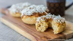 Caramel Coconut Baked Vegan Donuts