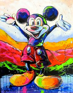 Mickey Cool Art, Art Projects, Painting, Design