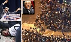 Violence erupts in Chicago after Trump rally is called off over a protesters threat to storm the stage during The Donald's speech - just hours after black man was beaten bloody at St Louis rally---When you have a candidate that openly states he wishes he could punch someone in the face and makes comments of a thug, look at what happens.....You won't see this at a TED CRUZ rally....