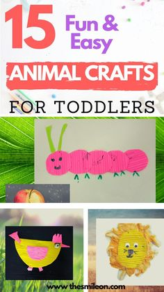 #Do your kids love animals? Try one of these 15 animal activities and crafts! These activities are all hands on activities and crafts that are great for keeping preschoolers and toddlers engaged. Includes sensory, learning, and find motor activities! Animal crafts for kids #craftforpreschooler, #artandcraft, #toddlerboredombusters, #kids Educational Activities For Toddlers, Cutting Activities, Animal Activities, Indoor Activities For Kids, Motor Activities, Parenting Toddlers, Toddler Teacher, Toddler Play, Toddler Preschool