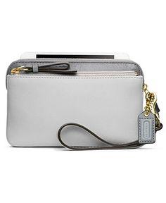 e245cd499f COACH POPPY COLORBLOCK LEATHER DB ZIP WRISTLET - Handbags  amp  Accessories  - Macy s Macys Bags