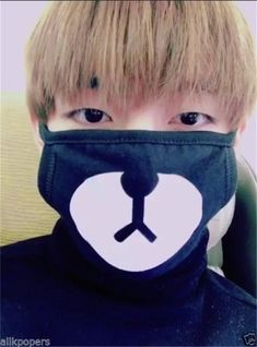 [BTS] Taehyung ''Bear'' Mask sold by Kpop Cloud. Shop more products from Kpop Cloud on Storenvy, the home of independent small businesses all over the world. Bts Taehyung, Jimin, Bts Bangtan Boy, Namjoon, Bts Cute, Cute Gif, Daegu, Bts Memes, Shop Bts