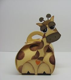 8/28/2014; Lynn Starzl at 'Stamping with Lynn' website; Curvy Keepsake Box Giraffe; Lynn lists all of the punches she lysed to create this little guy